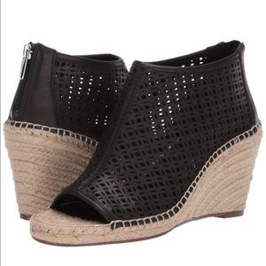Vince Camuto Lareena Perforated Leather Peep- Toe